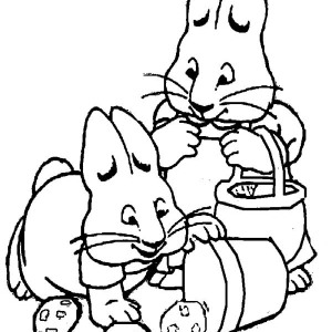 300x300 Kids Drawing Of Max And Ruby Coloring Page Coloring Sky