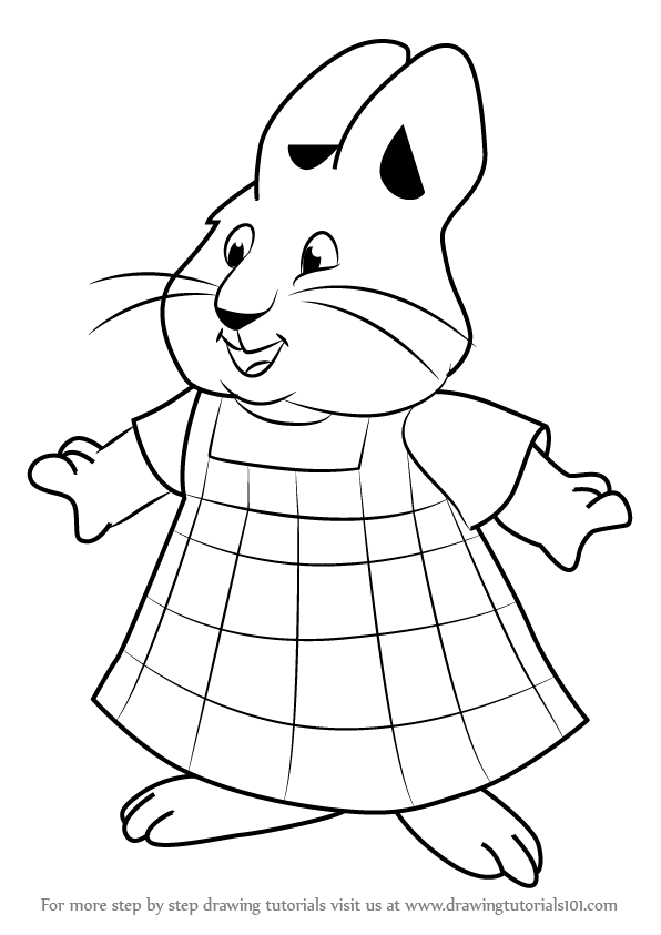 596x843 Learn How To Draw Louise From Max And Ruby (Max And Ruby) Step By
