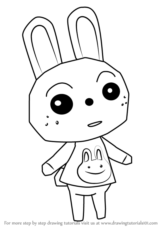 566x800 Learn How To Draw Ruby From Animal Crossing (Animal Crossing) Step