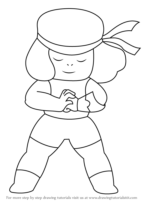 600x846 Learn How To Draw Ruby From Steven Universe (Steven Universe) Step
