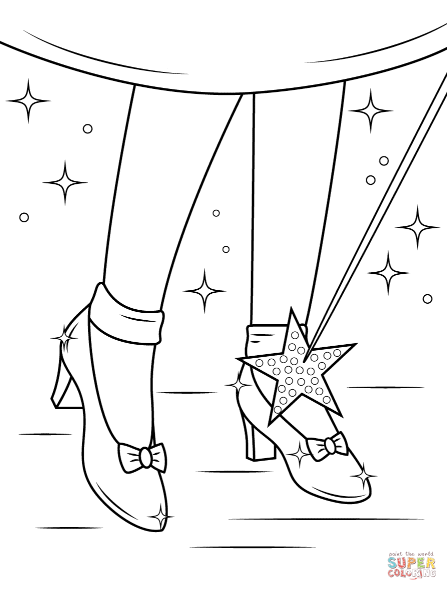 894x1181 Ruby Shoes Coloring Page Free Printable Coloring Pages