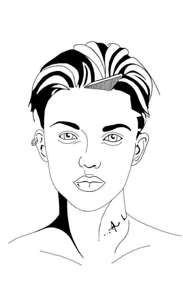 600x960 Stella Carlin (Ruby Rose) Drawing By Orkespip