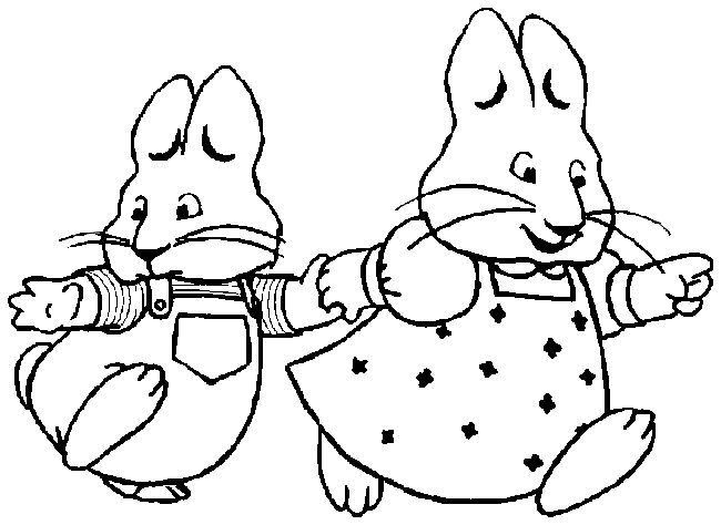 650x474 Coloring Page Max And Ruby 7 Birthday Birthdays