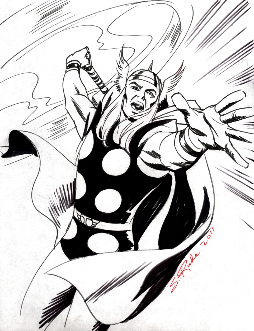 962x1250 Thor By Steve Rude, In Steve Rude's May 2011 The Mighty Thor