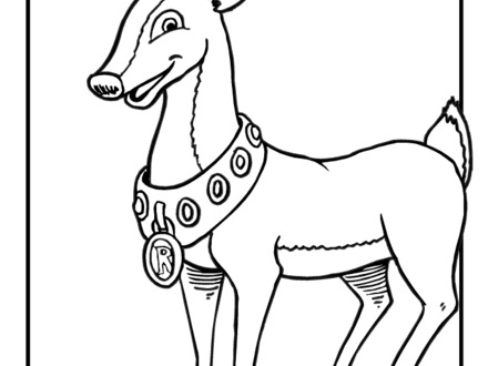 440x330 19 Coloring Pages Of Rudolph Red Nosed Reindeer, Rudolph