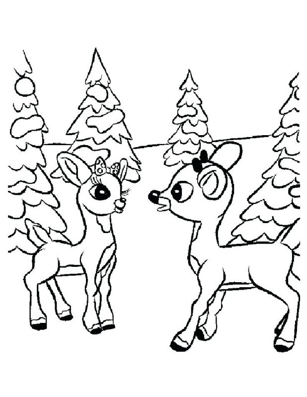 618x799 Coloring Pages Remarkable Rudolph The Red Nosed Reindeer Coloring