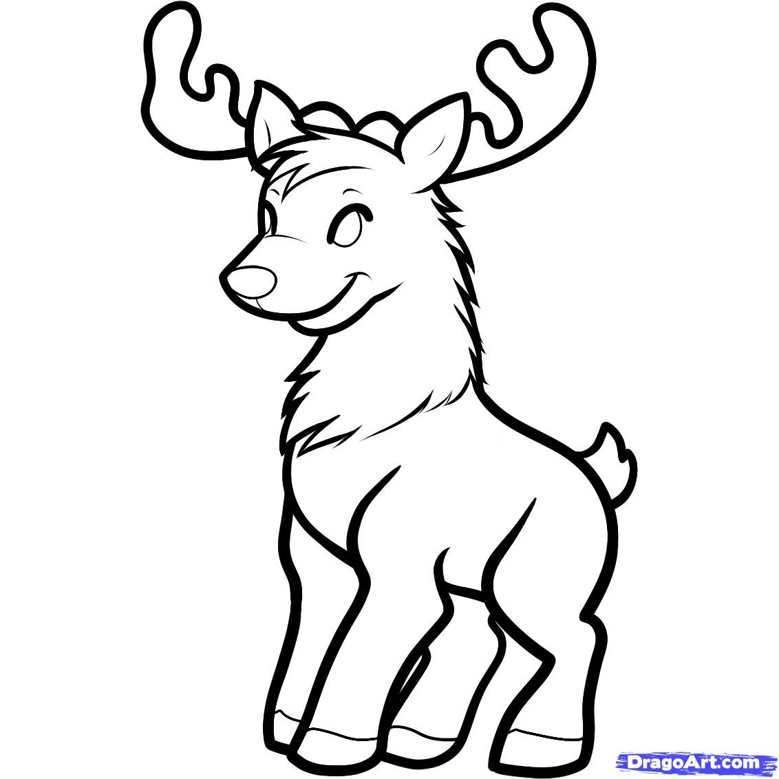 1132x1132 Pics Of Reindeer Drawing How To Draw Rudolph The Red Nosed