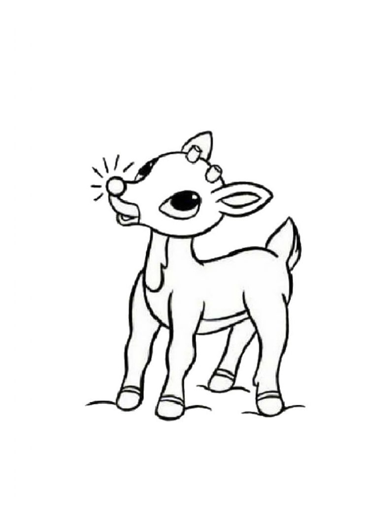 792x1024 Reindeer Coloring Pages Printable Kid's Crafts