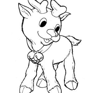 300x300 Rudolph The Red Nosed Reindeer Find A Baby In Snow Hole Coloring