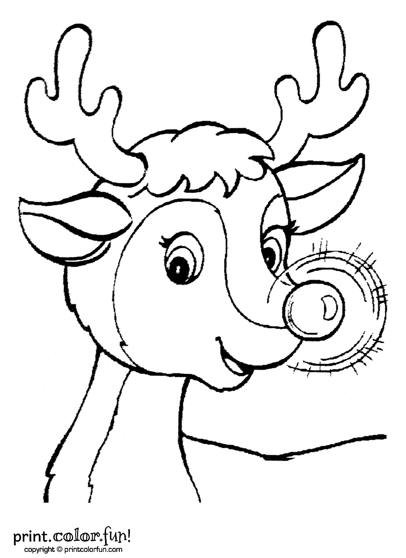 800x1100 Rudolph The Red Nosed Reindeer Coloring Page