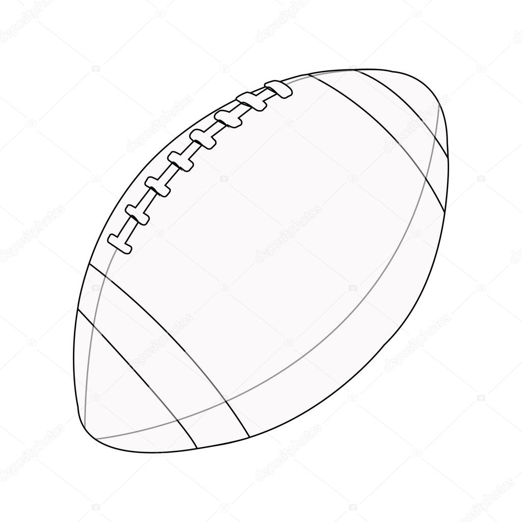 rugby ball drawing at getdrawings com free for personal Football Field Clip Art Football Clip Art Black and White