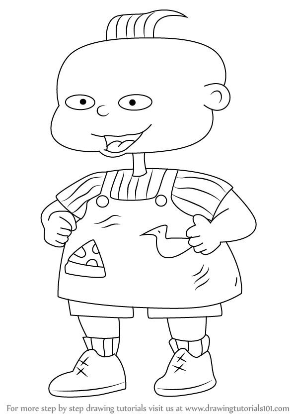 598x840 Learn How To Draw Phil From Rugrats (Rugrats) Step By Step