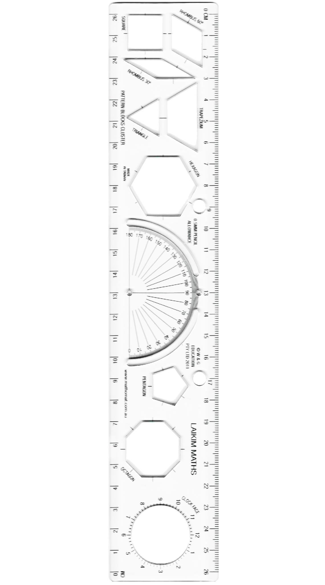 1140x2048 Laikim Maths Ruler For Primary School Students Mathomat Geometry