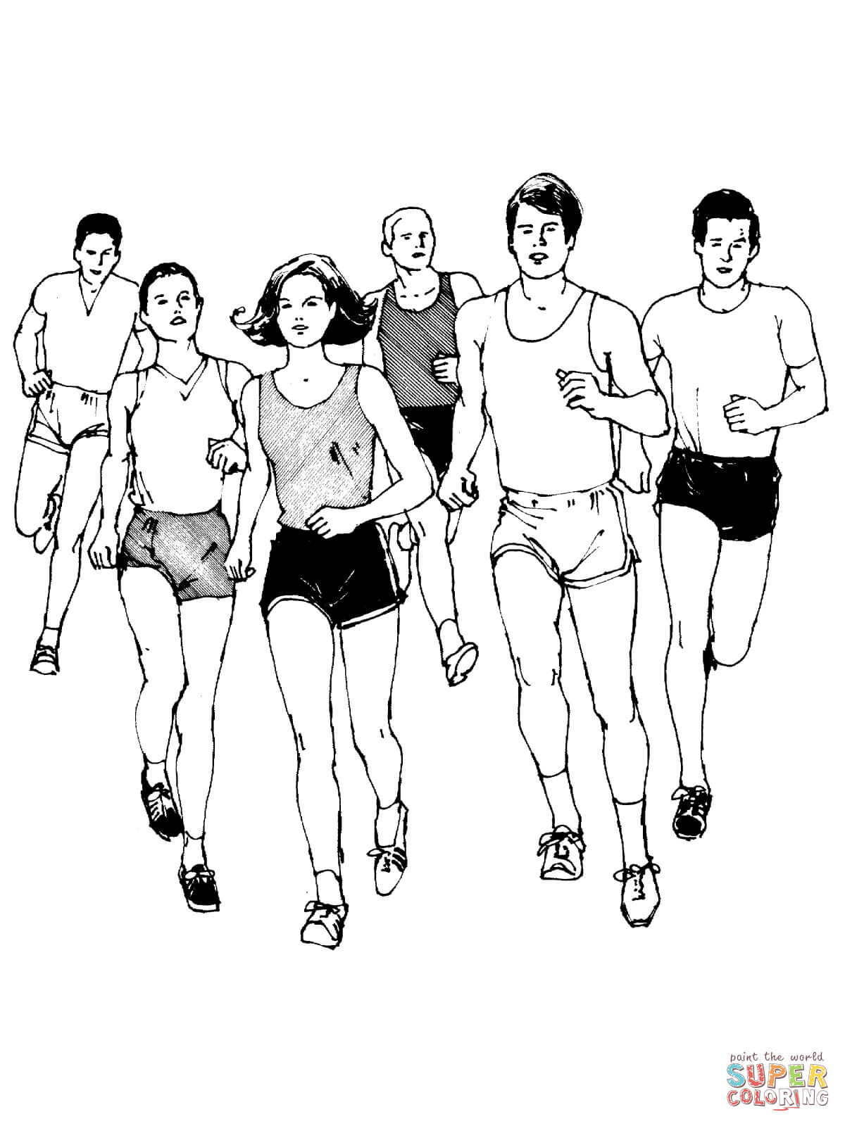 1200x1600 Marathon Runners Coloring Page Free Printable Coloring Pages