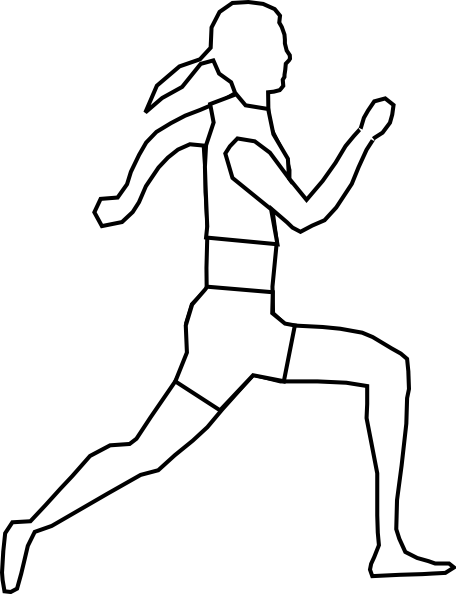 456x594 30 Images Of Runner Drawing Template