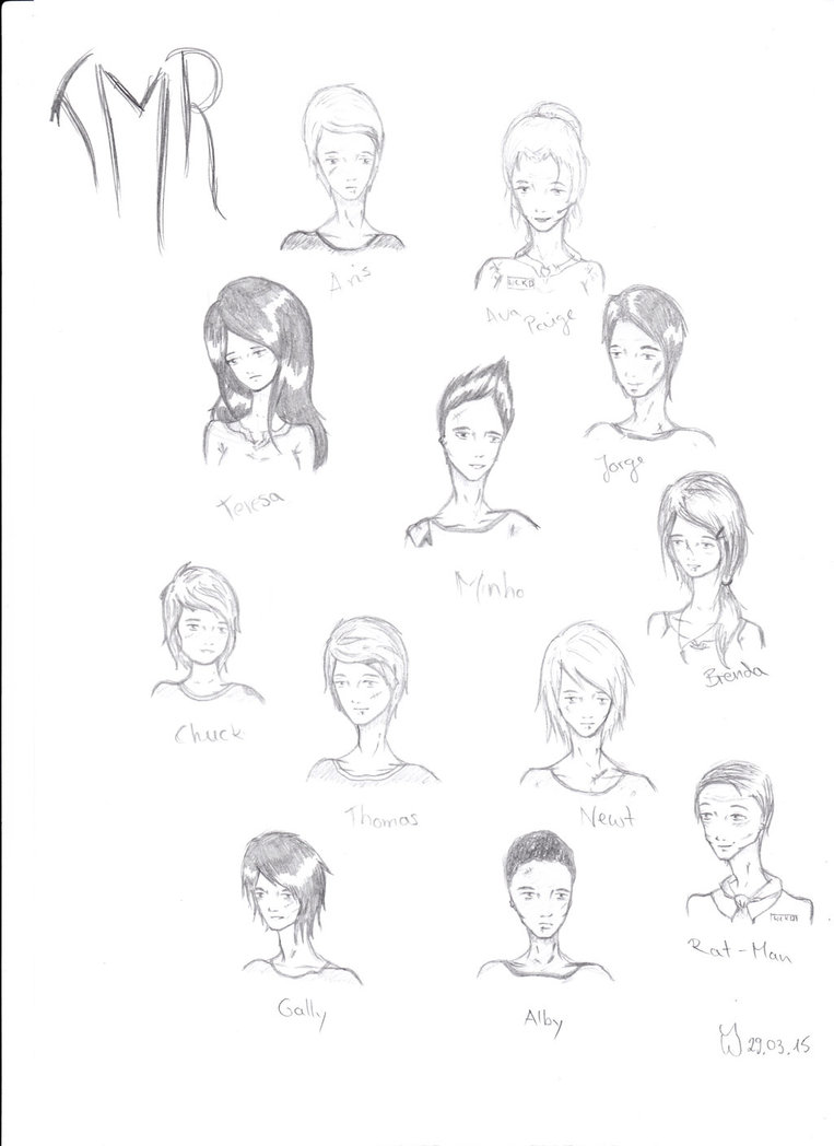 763x1048 Maze Runner Characters By Weronikalawliet