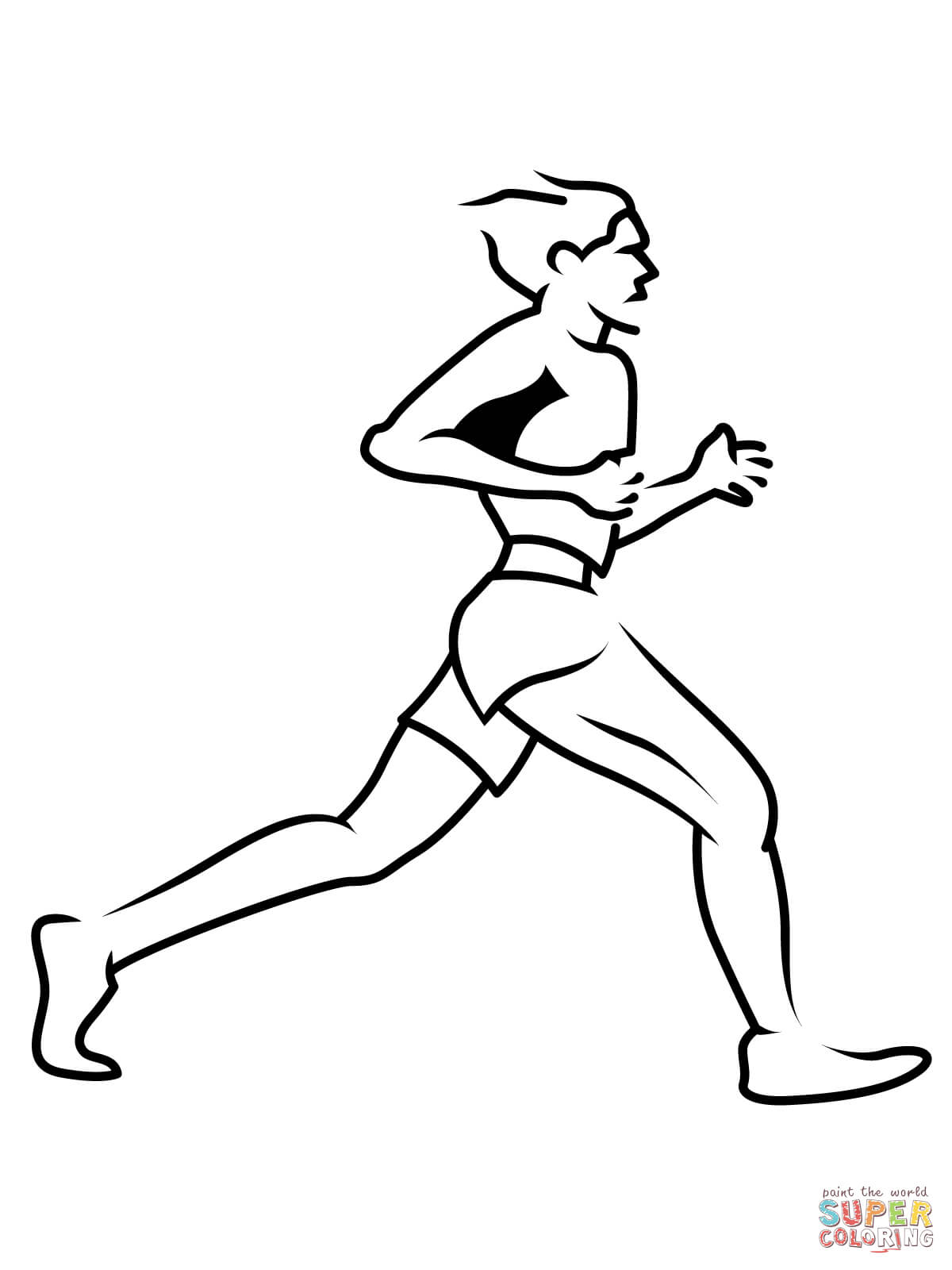 1200x1600 Short Runner Coloring Page Free Printable Coloring Pages