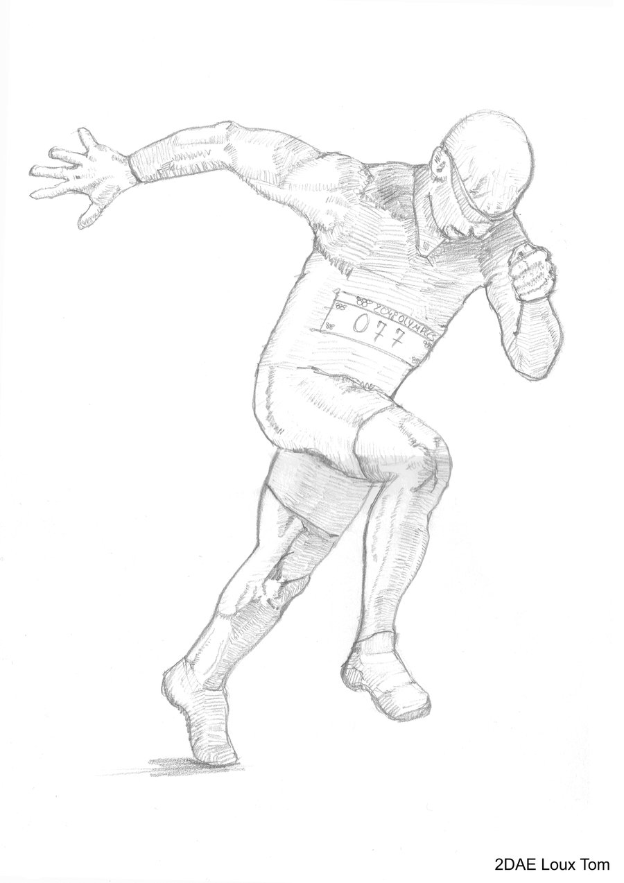 900x1273 Some Realistic Drawing Of A Runner By Tomloux
