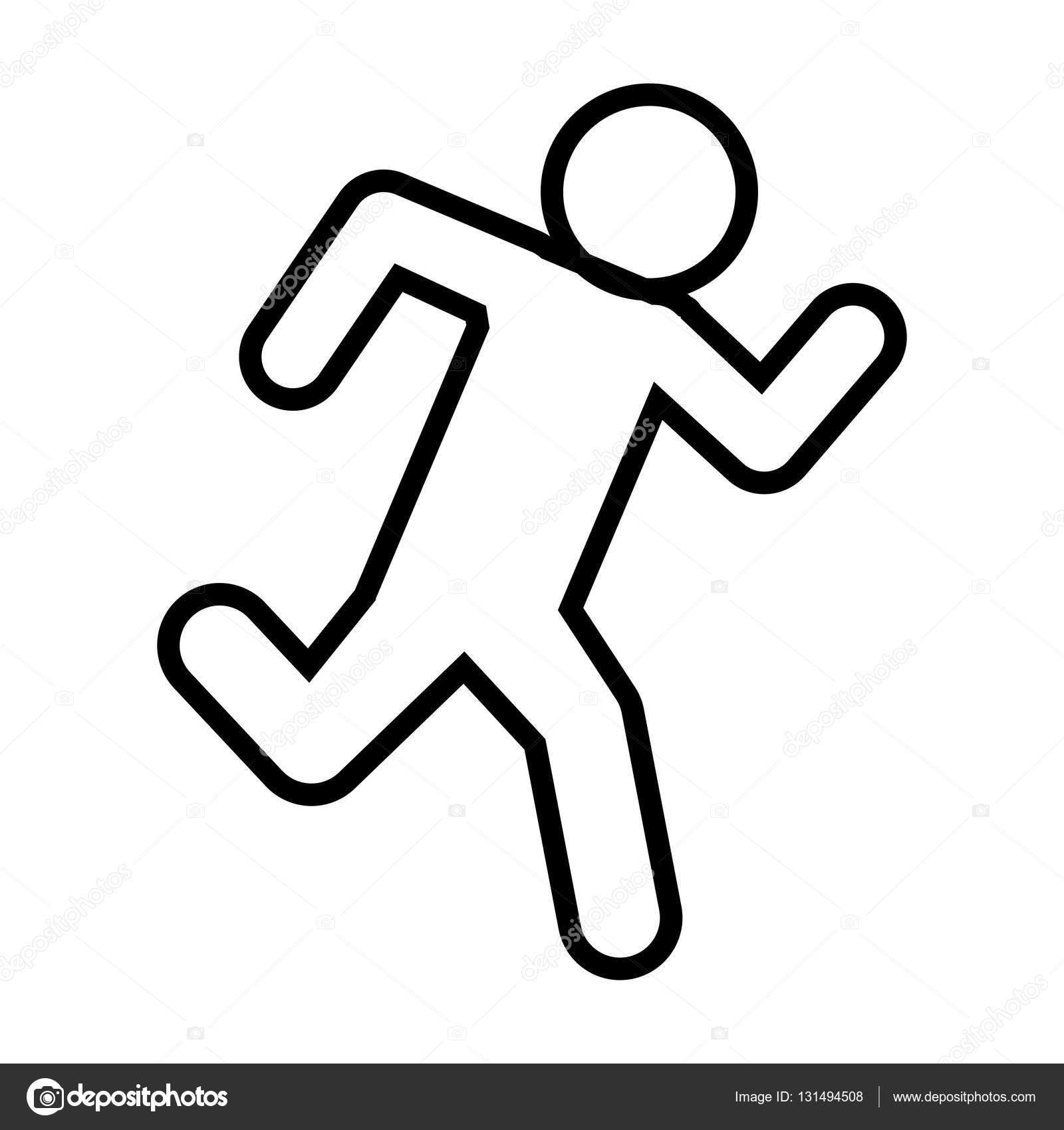 1600x1700 Drawing Man Sport Runner Icon Stock Vector Djv