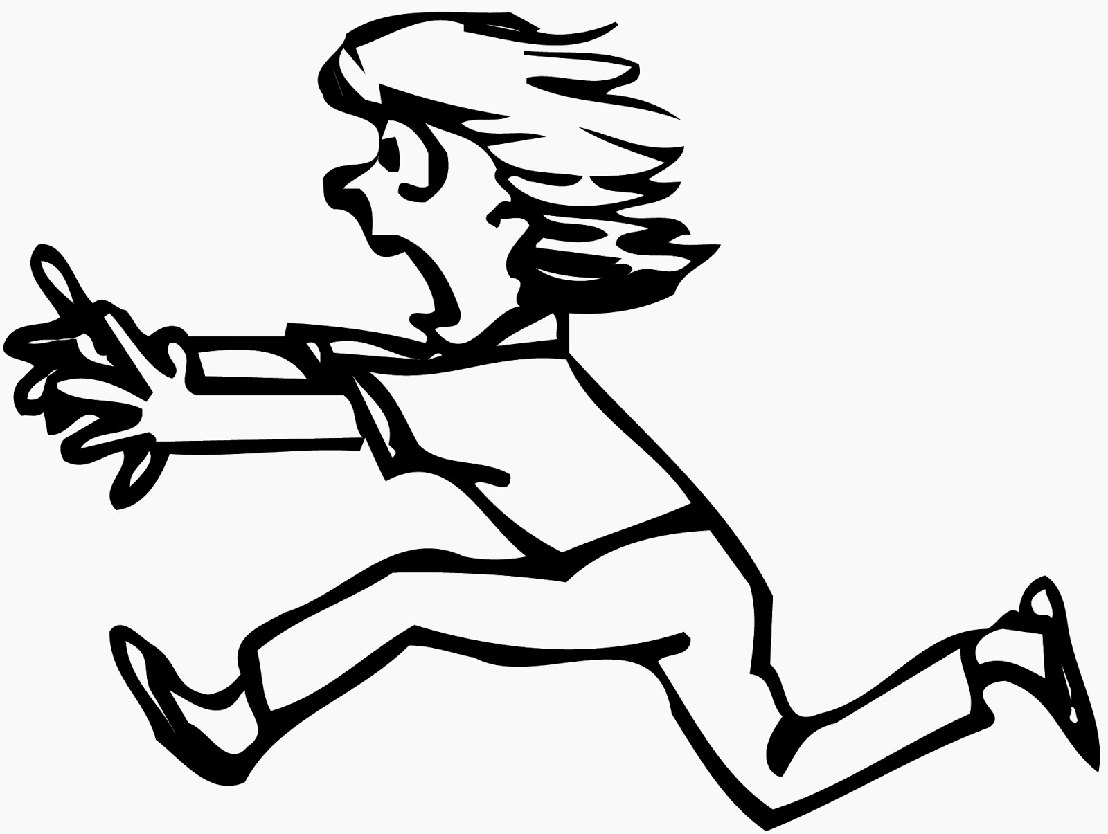 1600x1205 Someone Running Drawing Person Running Away Clipart 2
