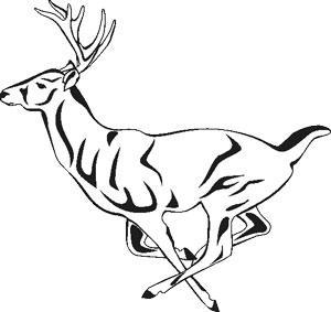 300x283 Paper Transfer Deer Running