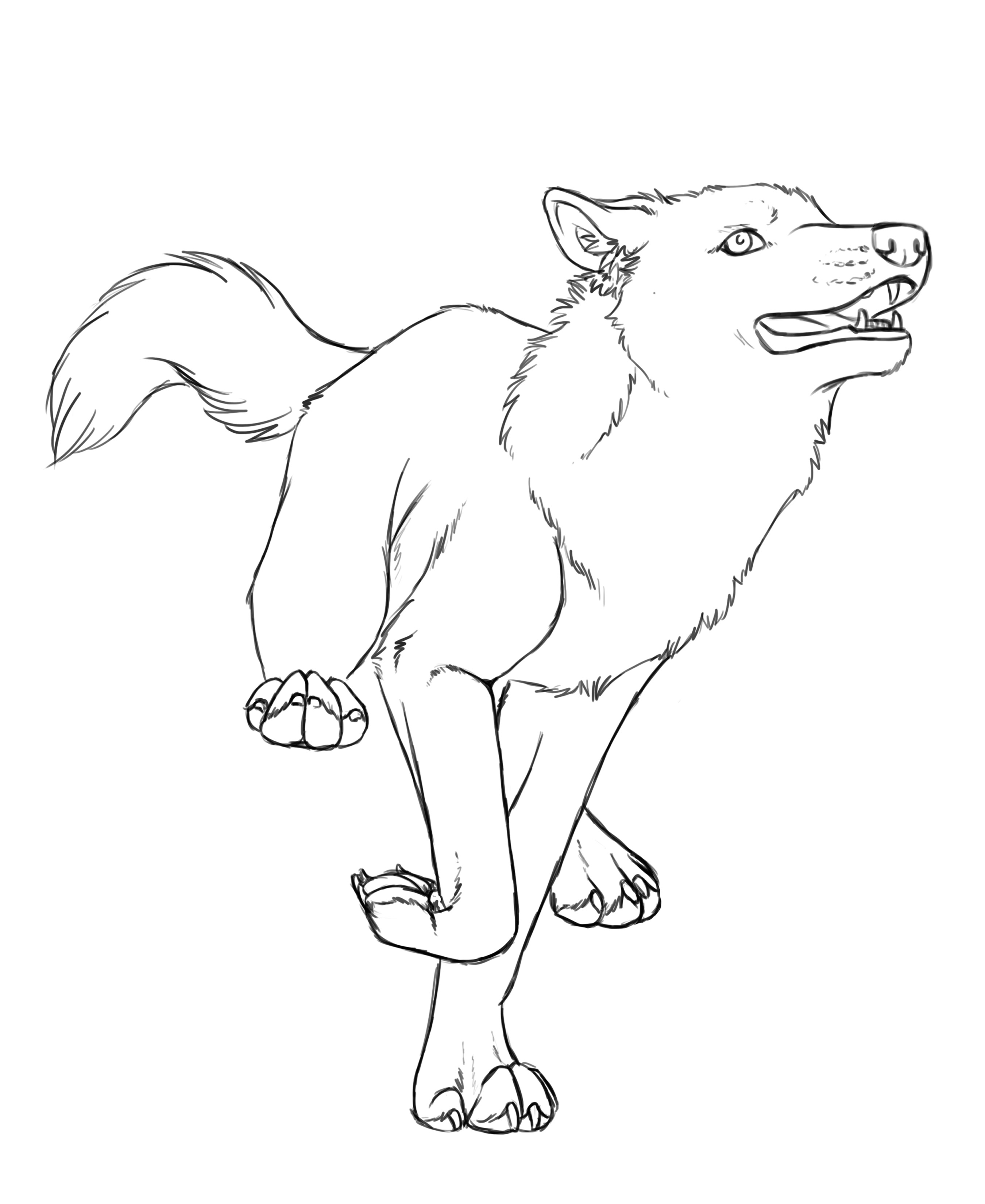 2700x3300 Joy Run Lineart By Crimsonwolfsobo