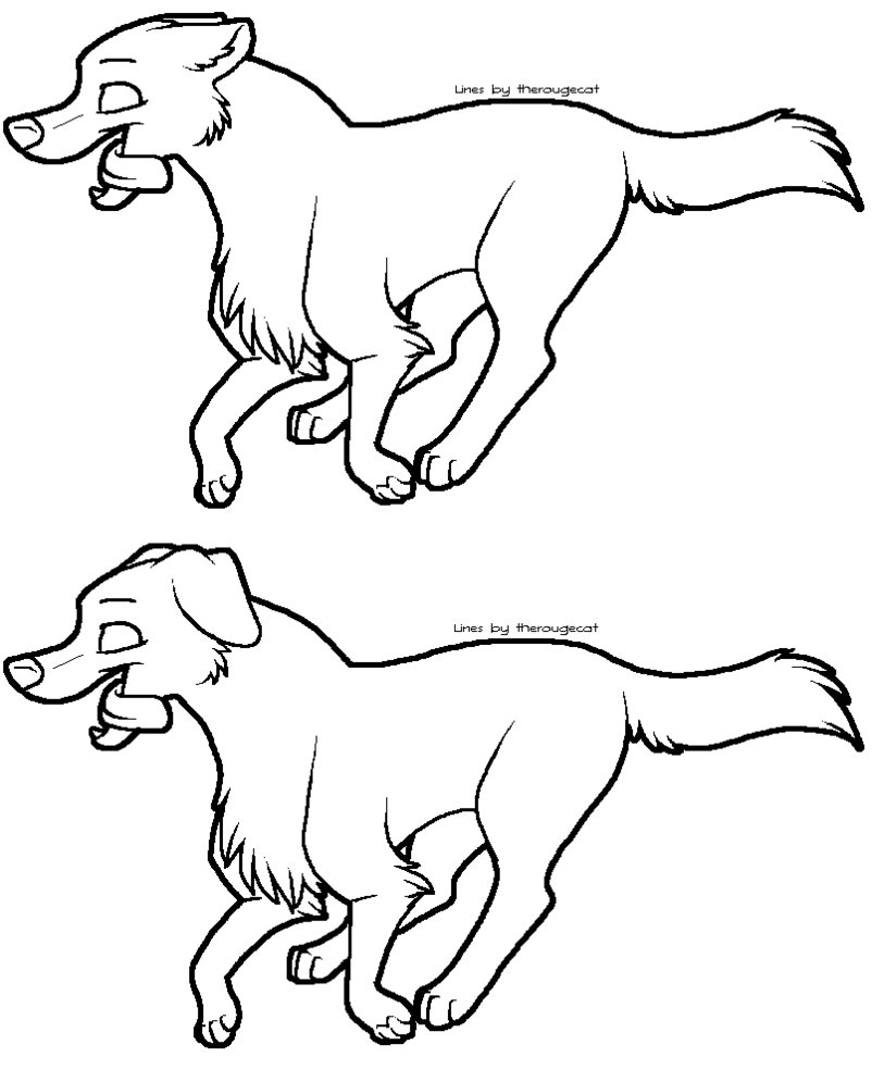 802x995 Running Dog Lineart By Therougecat