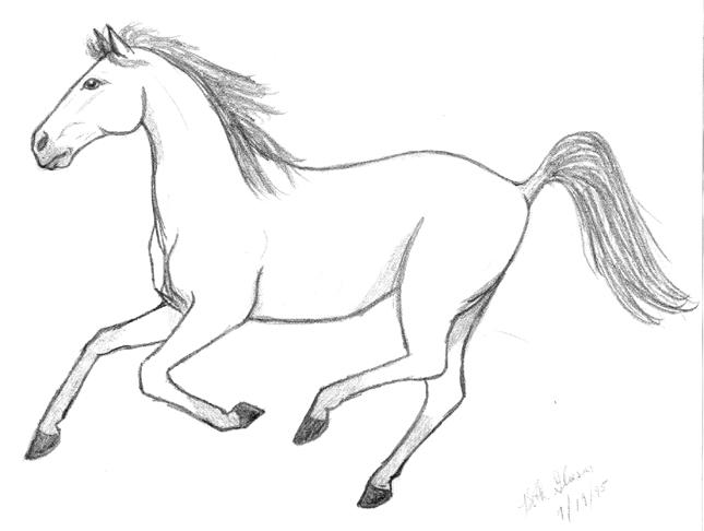 645x486 Running Horse By Grumblebear