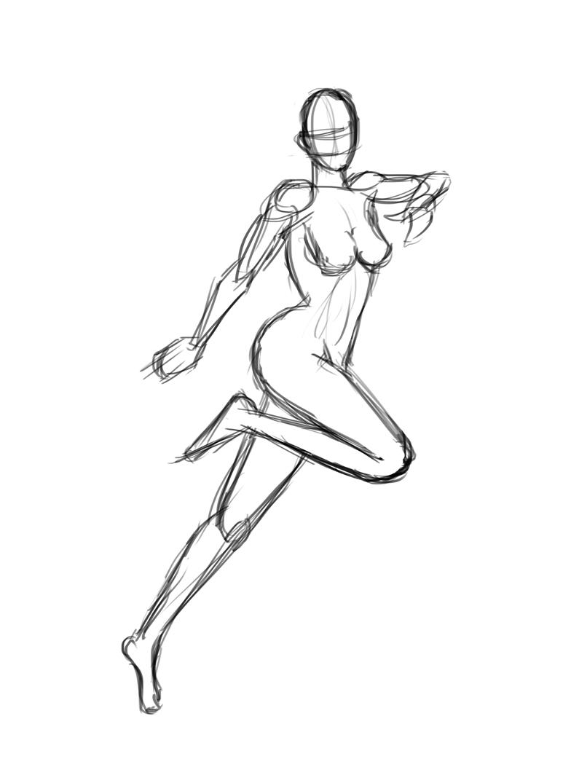 795x1075 Someone Running Drawing