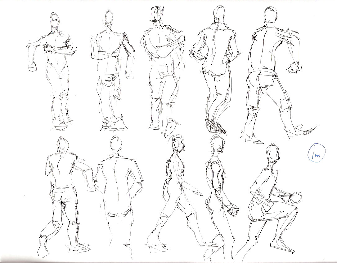 Running Figure Drawing
