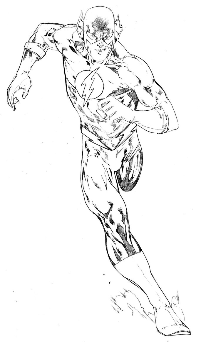 684x1166 Running Flash Superhero Coloring Pages Crafts