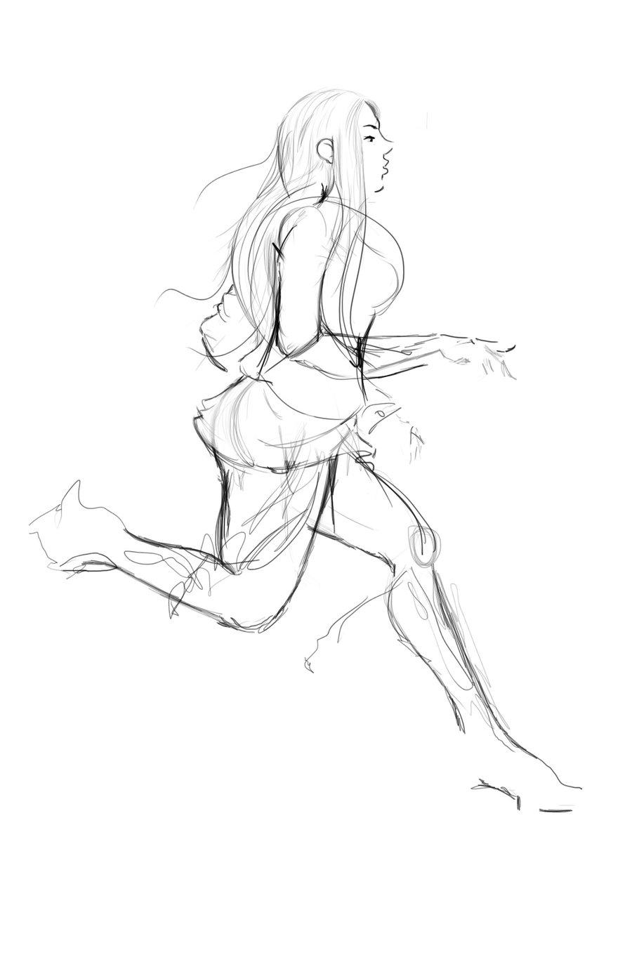 900x1390 Running Girl By Ciicru
