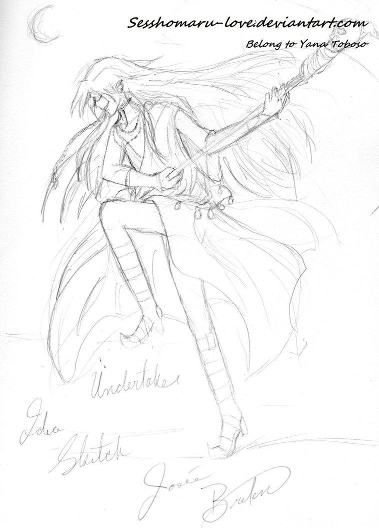 758x1054 Running Fight Position Undertaker Sketch By Jojofanart