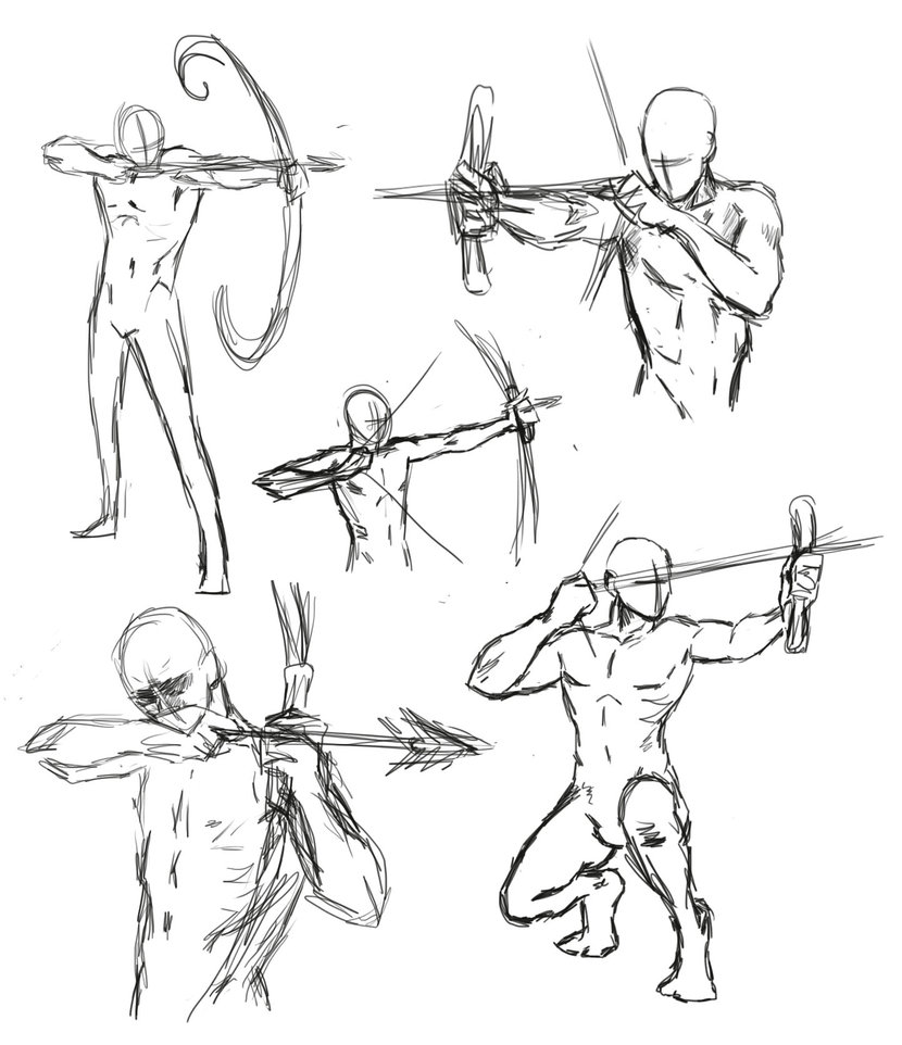 830x962 Drawing Bow Poses By Thealtimate