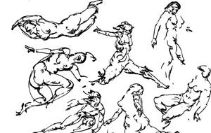 300x190 Draw Action Amp Drawing Figures Amp People Running, Walking, Jumping