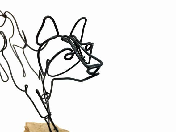 570x428 Running Fox Wire Sculpture Fox Wire Art Fox Art 572025924