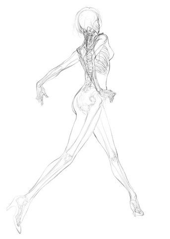 Running Girl Drawing