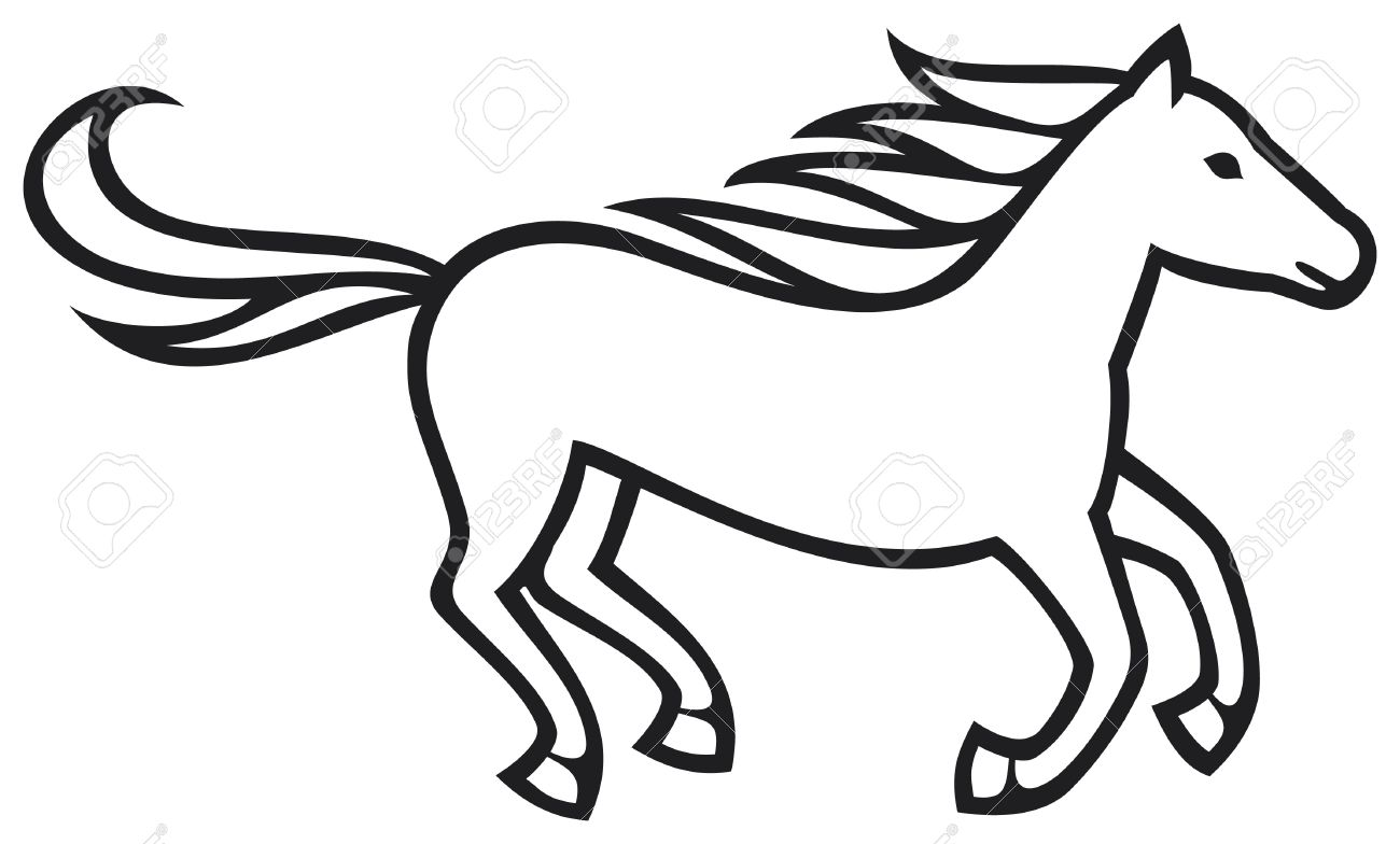 1300x784 Running Horse Royalty Free Cliparts, Vectors, And Stock