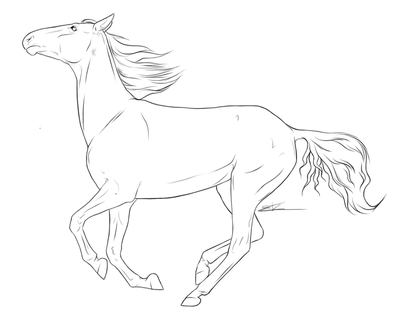 800x625 Running Horse Pt Vii By On @