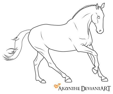 448x373 Running Horse Lineart By Abzinthe