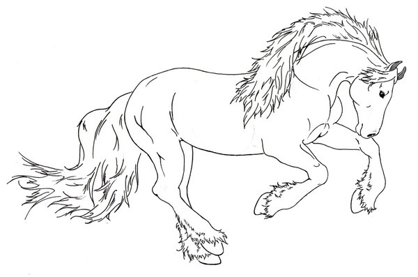 600x397 Draft Horse Running By Requay