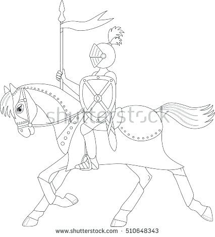426x470 Running Horse Coloring Pages Knight On A Running Horse Coloring
