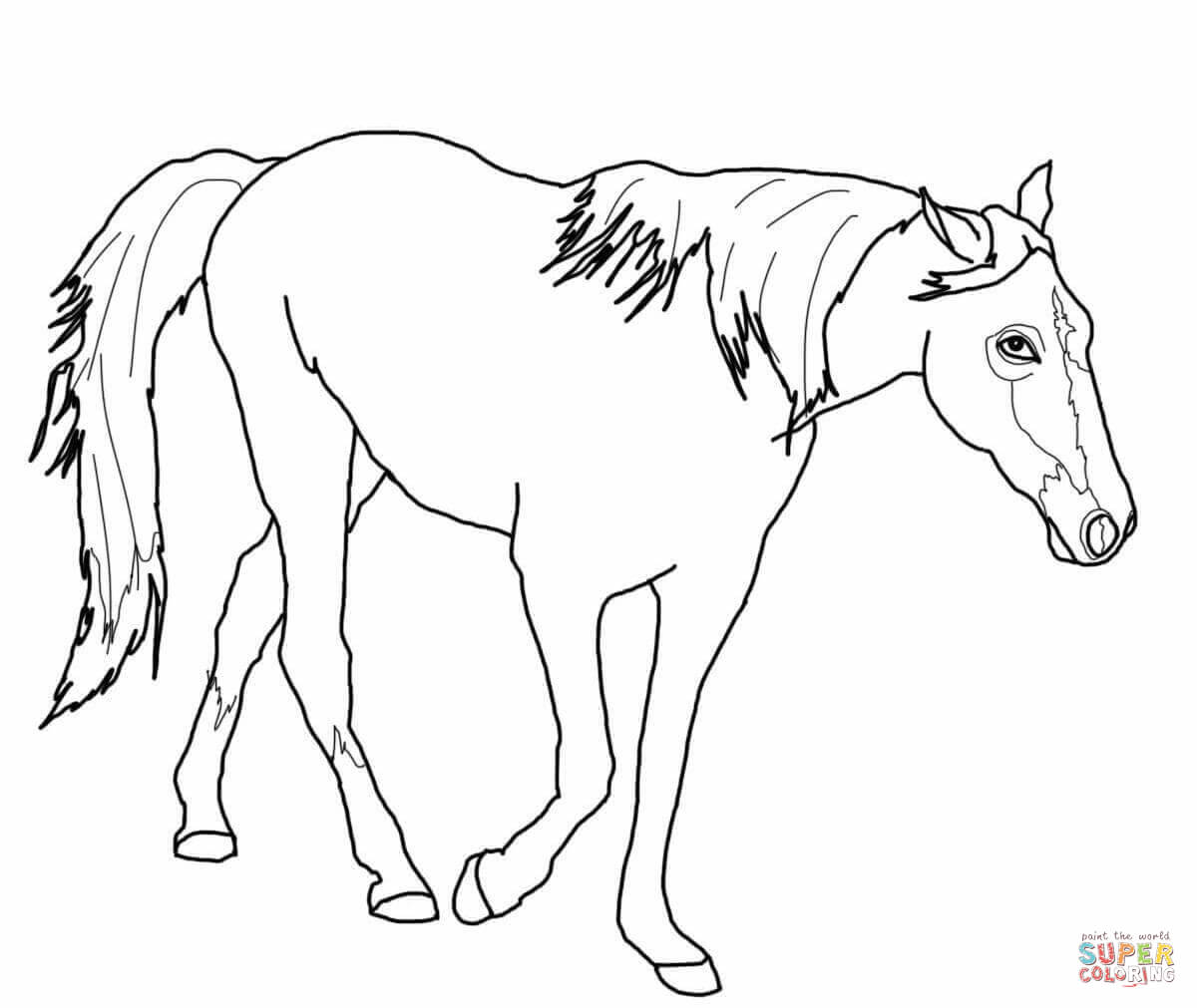 1200x1011 Running Horse Coloring Page Free Printable Pages