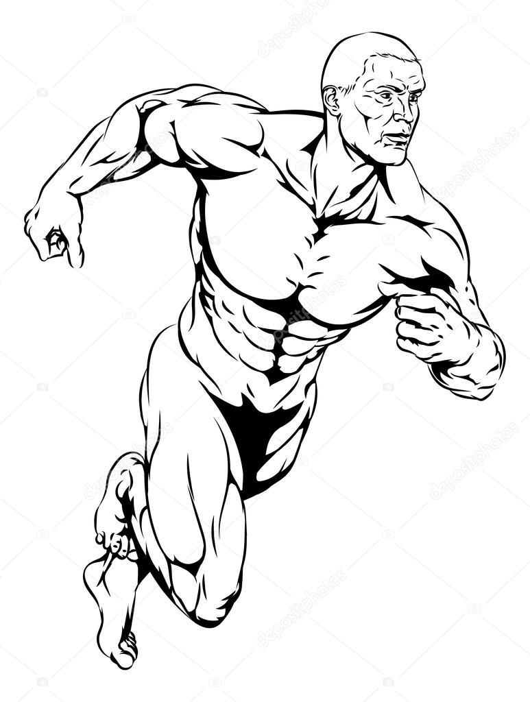773x1024 Man Running Stock Vector Krisdog