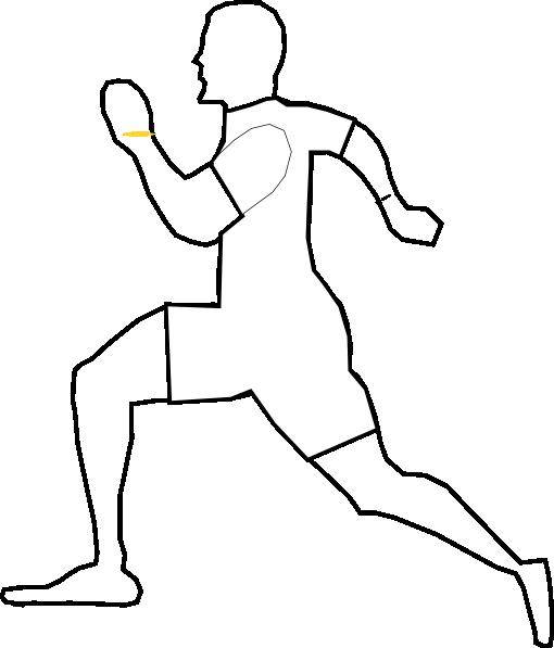 510x597 White Running Man Clip Art