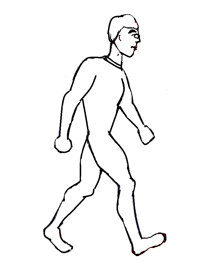 745x953 Create A Boy Running From Circles And Curved Lines Digital