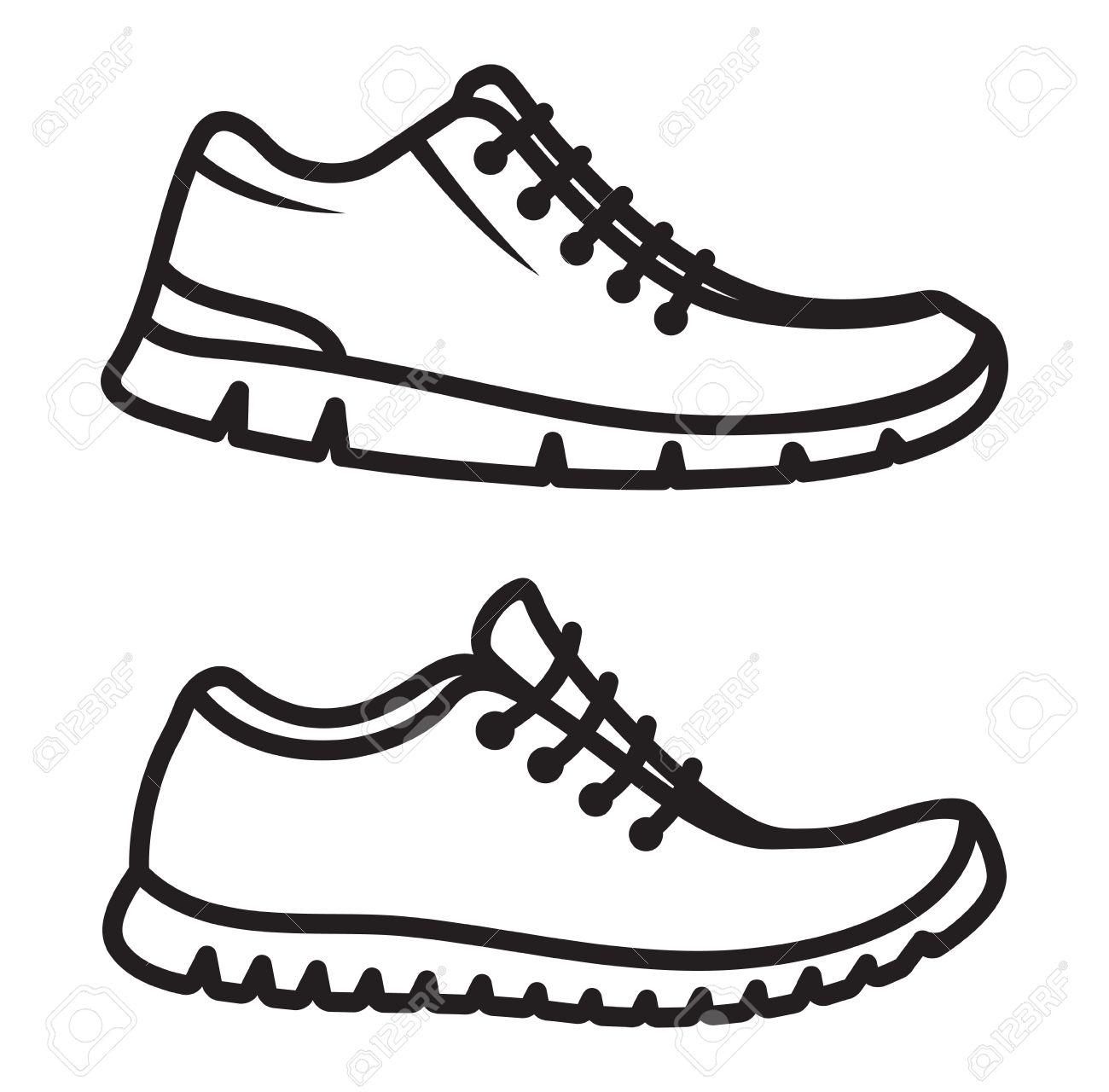 Line Art Shoes : Running shoe drawing at getdrawings free for