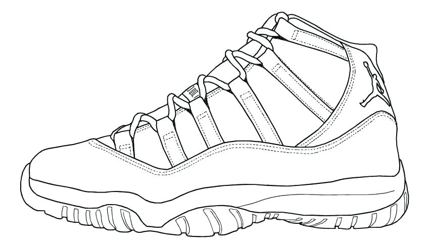 Running Shoe Drawing At GetDrawings.com