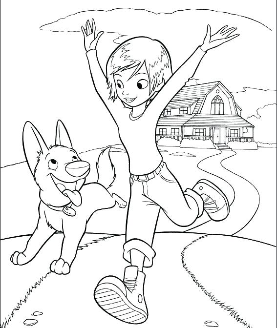 567x672 Running Coloring Pages Bolt And Penny Running Coloring Page Bolt