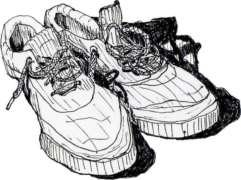 800x597 My Old Running Shoes Stickers By James Lewis Hamilton Redbubble